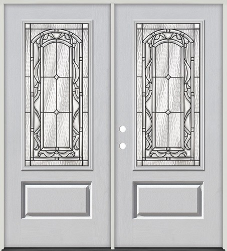 3/4 Lite Fiberglass Prehung Double Door Unit #272