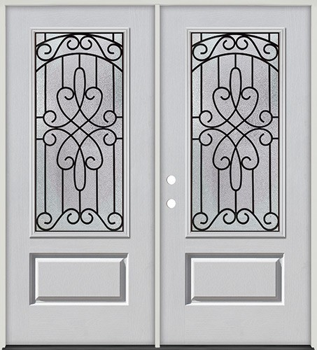3/4 Lite Fiberglass Prehung Double Door Unit #279