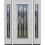 Full Lite Fiberglass Prehung Door Unit with Sidelites #297