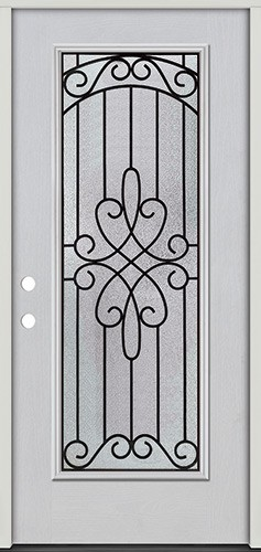 Full Lite Fiberglass Prehung Door Unit #299