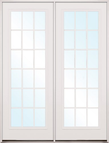 Finer Doors 8 39 0 Tall 18 Lite Fiberglass Patio Prehung