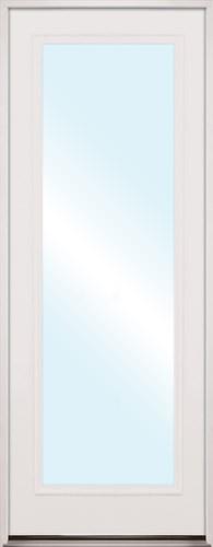 "8'0"" Tall Full Lite Fiberglass Prehung Door Unit"