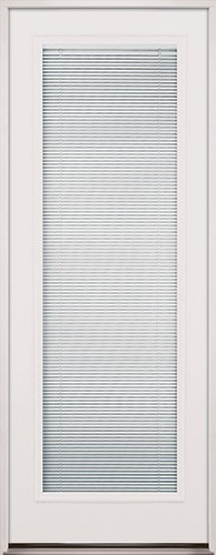 "8'0"" Tall Mini-blinds Fiberglass Prehung Door Unit"