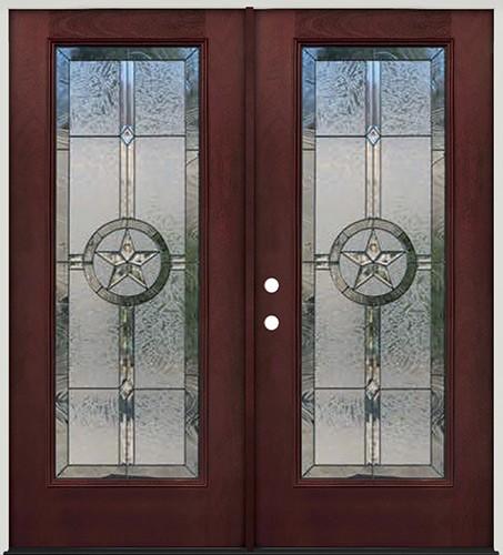 Finer doors texas star full lite pre finished mahogany - 32x80 exterior door rough opening ...