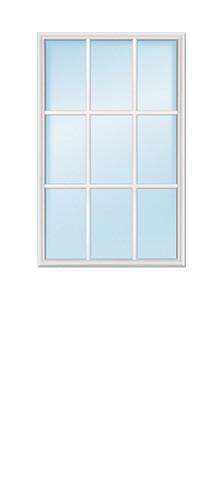 9-Lite Glass Insert