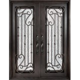 "62"" x 81"" Affinity Prehung Iron Double Door Unit"