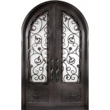 "62"" x 97"" Blossom Prehung Iron Double Door Unit"