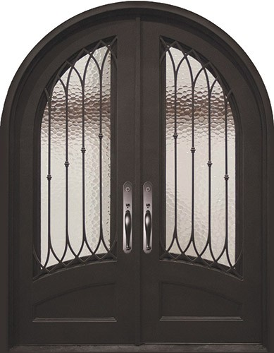 "62"" x 97"" Corinthian Prehung Iron Double Door Unit"