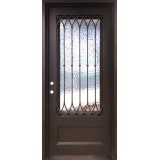 "46"" x 97"" Corinthian Square Top Prehung Iron Door Unit"