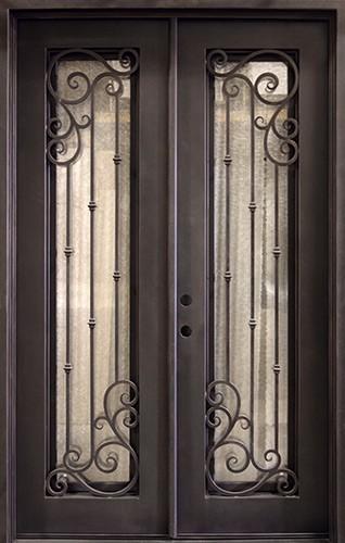 "62"" x 97"" Affinity Prehung Iron Double Door Unit"