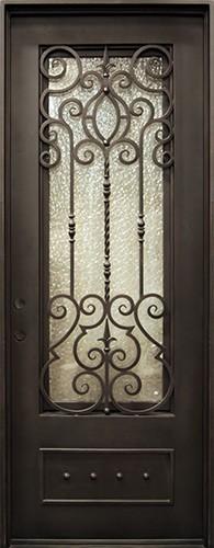 "40"" x 97"" Victorian Prehung Iron Door Unit"
