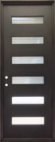 """40"""" x 97"""" Modern Prehung Iron Door Unit"""