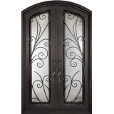"62"" x 82"" Summer Breeze Prehung Iron Double Door Unit"
