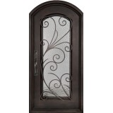 "46"" x 97"" Summer Breeze Prehung Iron Door Unit"