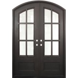"74"" x 97"" Tiffany Prehung Iron Double Door Unit"