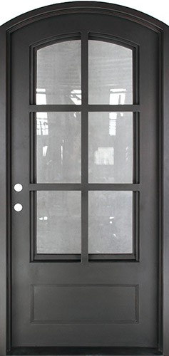 "46"" x 97"" Tiffany Prehung Iron Door Unit"