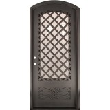 "46"" x 97"" Trellis Prehung Iron Door Unit"
