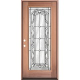 Full Lite Mahogany Prehung Wood Door Unit #292