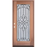 Full Lite Mahogany Prehung Wood Door Unit #299