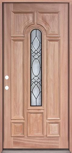 Center Arch Mahogany Prehung Wood Door Unit #UM58