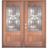 Texas Star 3/4 Lite Mahogany Prehung Double Wood Door Unit #UM70