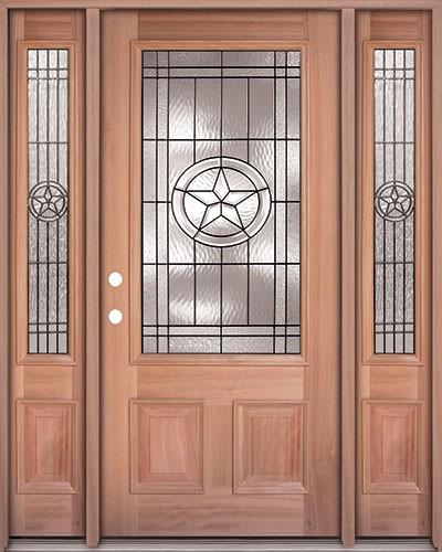 Finer Doors Texas Star 3 4 Lite Mahogany Prehung Wood