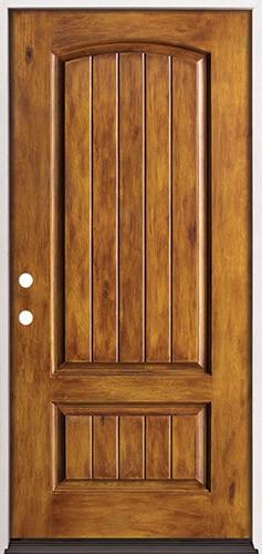 Rustic Pre-finished Fiberglass Prehung Door Unit