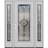Texas Star Full Lite Fiberglass Prehung Door Unit with Sidelites #90