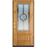 Texas Star 3/4 Lite Knotty Alder Wood Door Prehung Door Unit #70