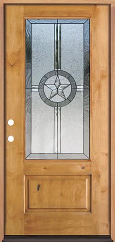 Texas Star 3/4 Lite Knotty Alder Wood Door Prehung Door Unit #70