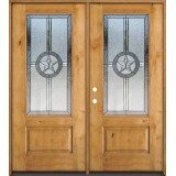 Texas Star 3/4 Lite Knotty Alder Wood Double Door Unit #70