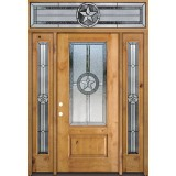 Texas Star 3/4 Lite Knotty Alder Wood Door Unit with Transom #70