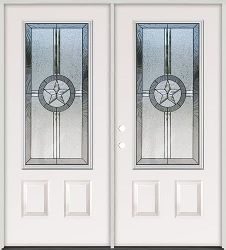 Texas Star 3/4 Lite Steel Prehung Double Door Unit #70
