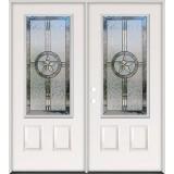 3/4 Lite Texas Star Steel Prehung Double Door Unit #70