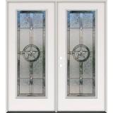Full Lite Texas Star Steel Prehung Double Door Unit #90