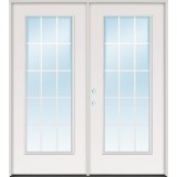 "5'0"" 15-Lite GBG Fiberglass Patio Prehung Double Door Unit"