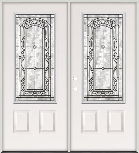 3/4 Lite Steel Prehung Double Door Unit #272