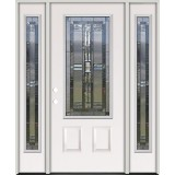 3/4 Lite Steel Prehung Door Unit with Sidelites #277