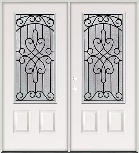 3/4 Lite Steel Prehung Double Door Unit #279