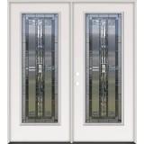 Full Lite Steel Prehung Double Door Unit #297