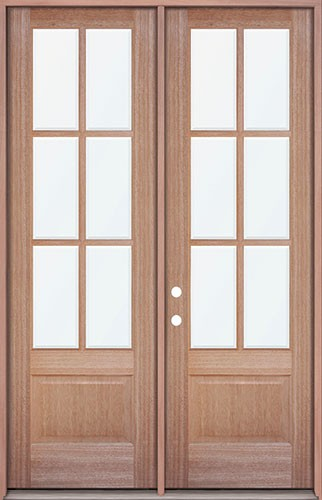Finer Doors 8 0 Quot Tall 6 Lite Mahogany Prehung Wood