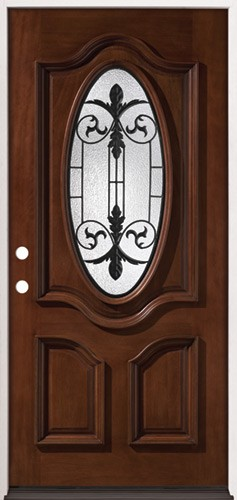 finer doors 3 4 oval mahogany prehung wood door unit 51