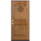 Rustic Knotty Alder Prehung Wood Door Unit #20